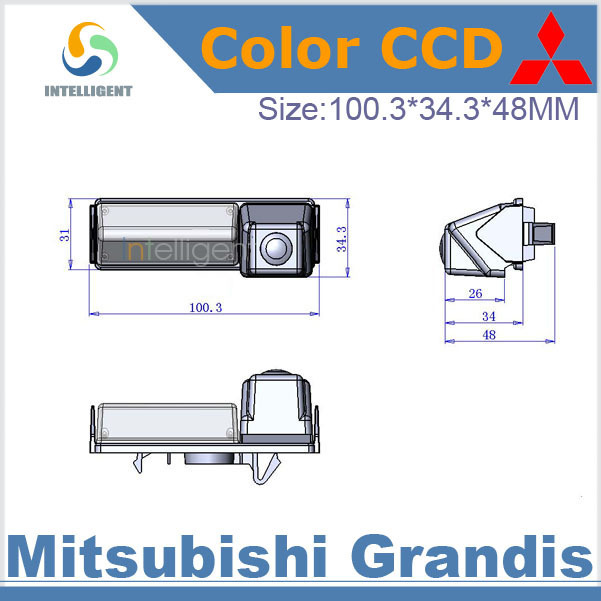 Free shipping Night vision Car backup camera For Mitsubishi Grandis HD CCD Reversing car camera