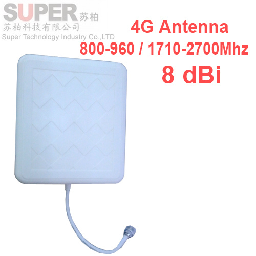 russia 8dbi gain 4G antenna 800-2700Mhz LTE BOOSTER panel FOR WCDMA booster Directional - Super Technology Industry Co., LTD store