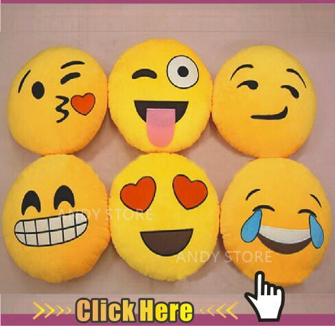 2015 New 6 Styles Soft Emoji Smiley Emoticon Yellow Round Cushion Pillow Stuffed Plush Toy Doll Christmas Present Pendant(China (Mainland))