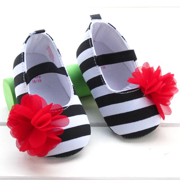 Стиль девочки-младенцы обувь первые ходоки черный белый 11 см - 13 см зебра принт принцесса младенцы малыша обувь