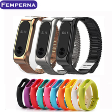 Metal Strap For Xiaomi Mi Band 2 Strap Stainless Steel Bracelet Smart Band Replace Accessories For Mi Band 2 OLED Display Wrist(China (Mainland))