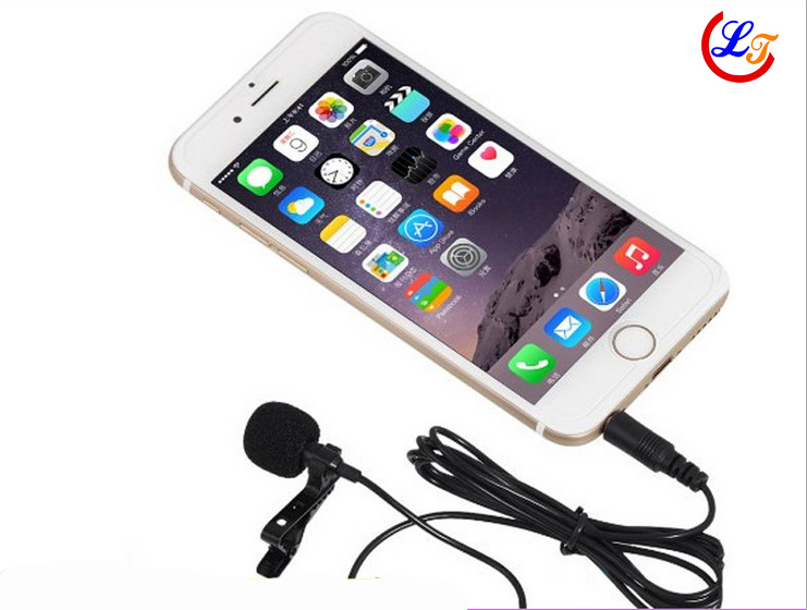 Lapel Stereo Condenser Mobile Phone Microphone Lavalier Microfone for iPhone for Samsung etc Phone 3.5mm Jack Mikrofon 1.5m Line(China (Mainland))