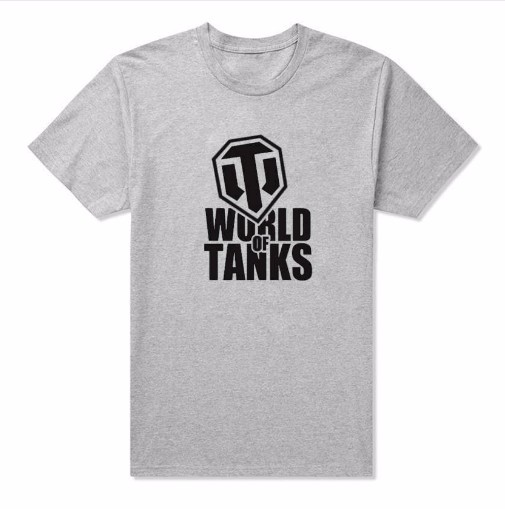 Tanks T-Shirt Men's WOT World of Tanks T Shirt 100% Cotton Short Sleeve Round Neck Tops Tees Game Summer Weapon Man Woman Tshirt