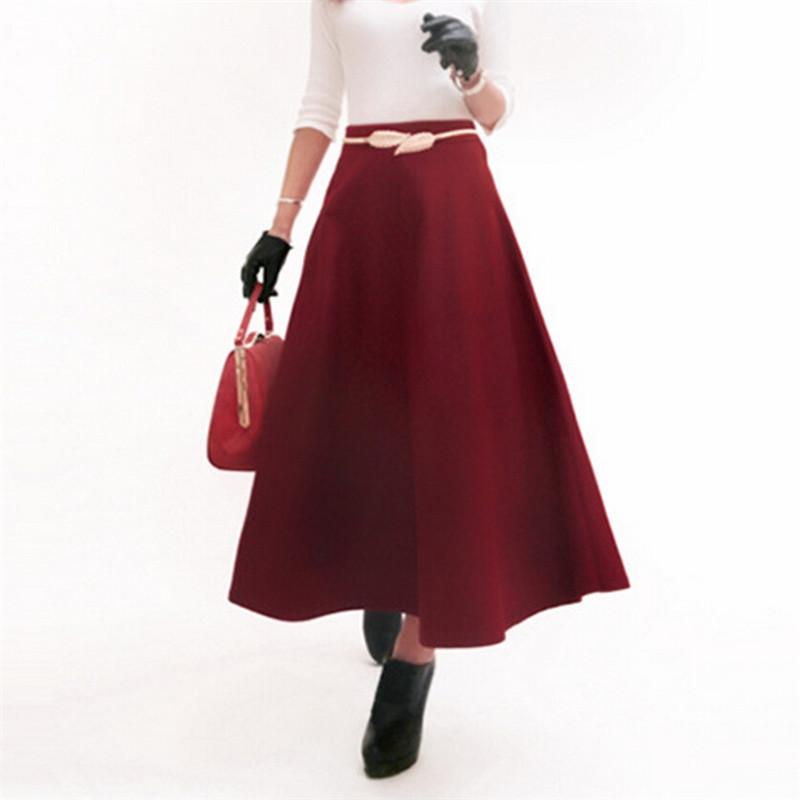 2016 winter skirt faux woolen a line skirts high