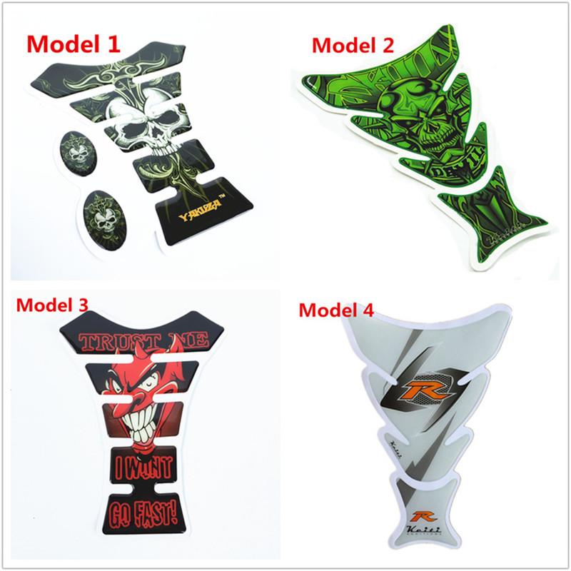 19cm Funny Cool 3D Motorcycle Decal Gas Oil Fuel Tank Pad Protector Skull Racing Car Sticker For Yamaha Honda Suzuki Kawasaki(China (Mainland))