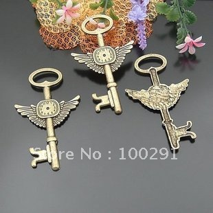 FreeShipping!!! Wholesale Handmade resin DIY accessories 75*45MM alloy clock key(China (Mainland))