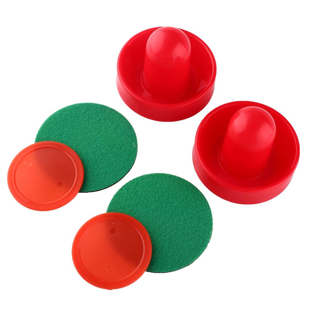 Plastic Red 2 Air Hockey Pucks Table Handles Paddles Child Indoor Game air hockey accessory Free Shipping(China (Mainland))