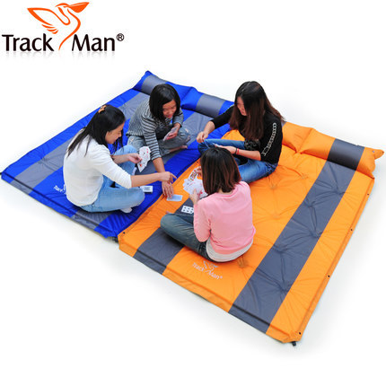 Outdoor Double Splicing Style Automatic Air Mattresses Inflatable Mattress Moisture Pad Dampproof Mat Picnic Camping Lunch Break - TUYUE Trade Co., LTD. store