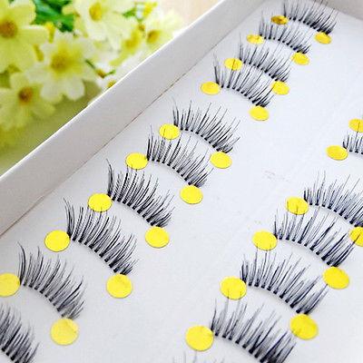 10 pairs Beauty Makeup Mini Half Corner Black False Eyelashes Natural Eye Lashes(China (Mainland))