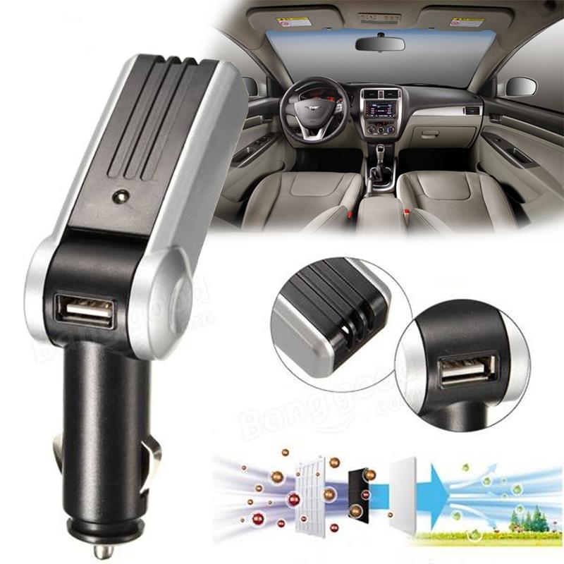 R1B1 Car Air Ionizer Oxygen Bar Ozone Purifier Fresher Clean USB Charger(China (Mainland))