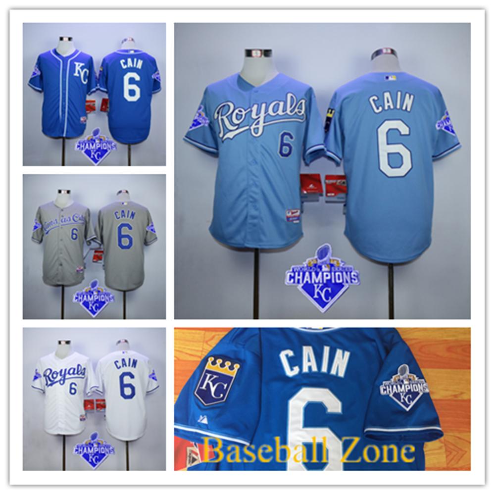 2015 New Arrival Stitched Mens Kansas City Royals Baseball Jersey #6 Lorenzo Cain Jersey Blue Gray White Free Shipping<br><br>Aliexpress