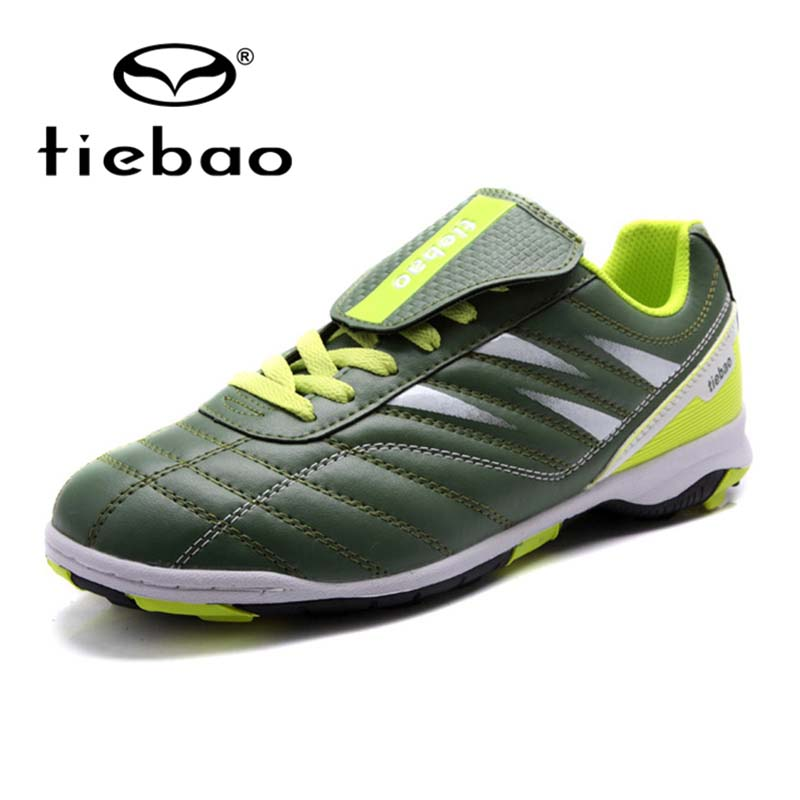2016 TIEBAO Brand Unisex Outdoor Football Training Shoes Sport Adult Football Shoes Outdoor Turf Rubber Sole Sports Shoes(China (Mainland))