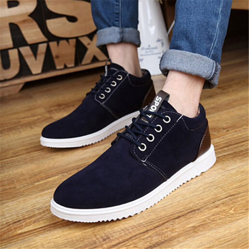 shoes new mens casual breathable nubuck leather shoes size 39 44 zapatillas zapatos hombre