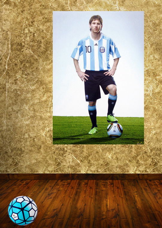 Hd 2016 stickers wall stickers to decorate a room latest messi Argentina's World Cup football athletes(China (Mainland))