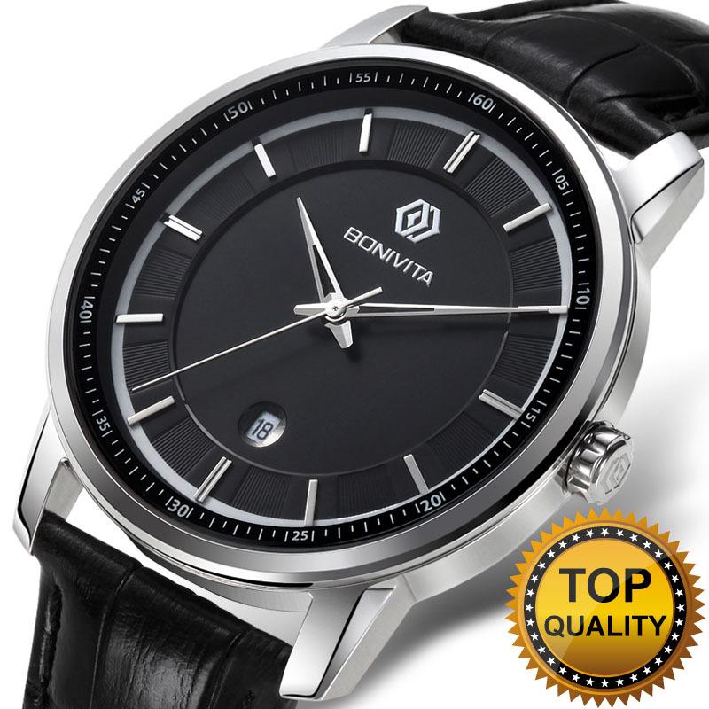 Гаджет  Bonivita curren men quartz wristwatch genuine leather watch for men and women luxury brand business watches classic watches None Часы