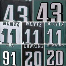 best quality,Men's Carson new Wentz Darren green Sproles Fletcher white Cox Brian elite Dawkins jersey(China (Mainland))