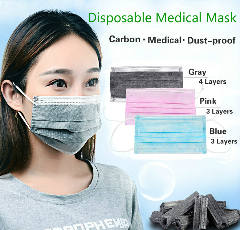 20 Pieces/Pack Disposable Professional Medical Anti Dust Healthy Carbon Face Mask 3 Layers/4 Layers Mouth Masks GYH(China (Mainland))