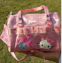 Zipper jacquard floral pink cartoon school bags children messenger bags small handbag for baby kids girls mochila infantil(China (Mainland))