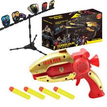 O homem Aranha homem de Ferro Capitão Hulk Vingadores Arma Bala Mole Pistola de Brinquedo Jogo de Tiro Com Alvo Estande Arma de Brinquedo Crianças brinquedos(China)
