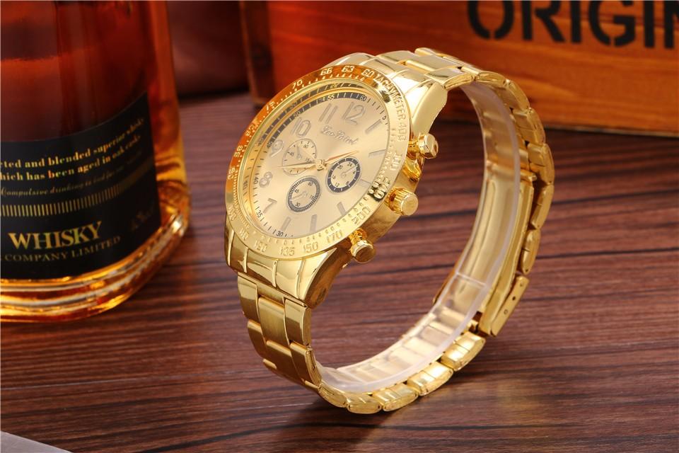 gold silver watch women quartz watches Casual fashion business watches luxury men and women brand gift relogio masculino x
