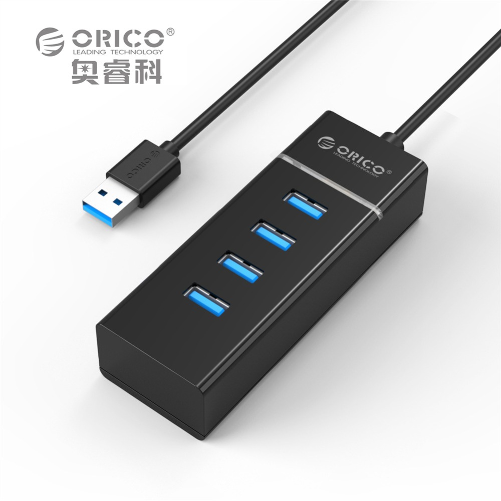ORICO W6PH4-V1 Portable 4 Ports USB3.0 HUB 5 Gbps for Laptop/Ultrabook with Vl812 Chipsets-Black(China (Mainland))