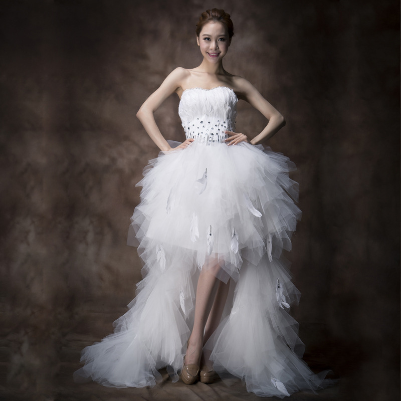 White Feather Dress Short Promotion-Shop for Promotional White ...