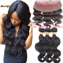 Brazilian Body Wave With Lace Frontal Bundles Unprocessed Virgin Hair Bundles With Lace Fronal Closure 13×4 With Free Shipping
