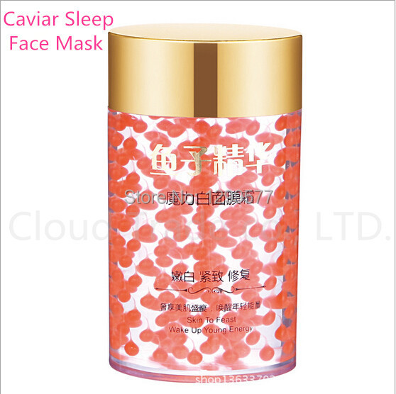 Caviar Sleep Mask Cream Repair Whitening Removes Pigment Freckle firming Anti Wrinkle Aging Moisturizing face care(China (Mainland))