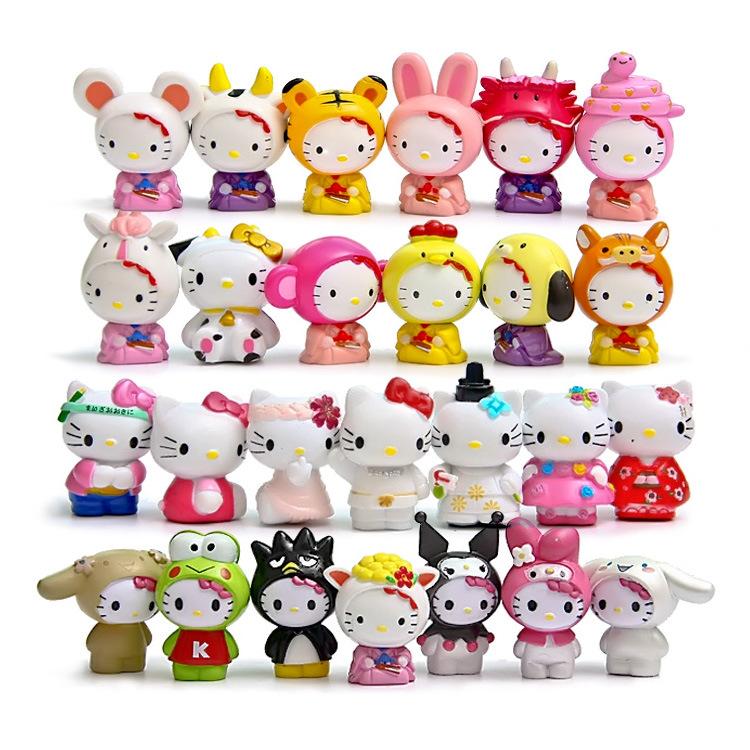 Japanese Hello Kitty Toys : Pcs set kawai japan anime animal kitty kimono hello