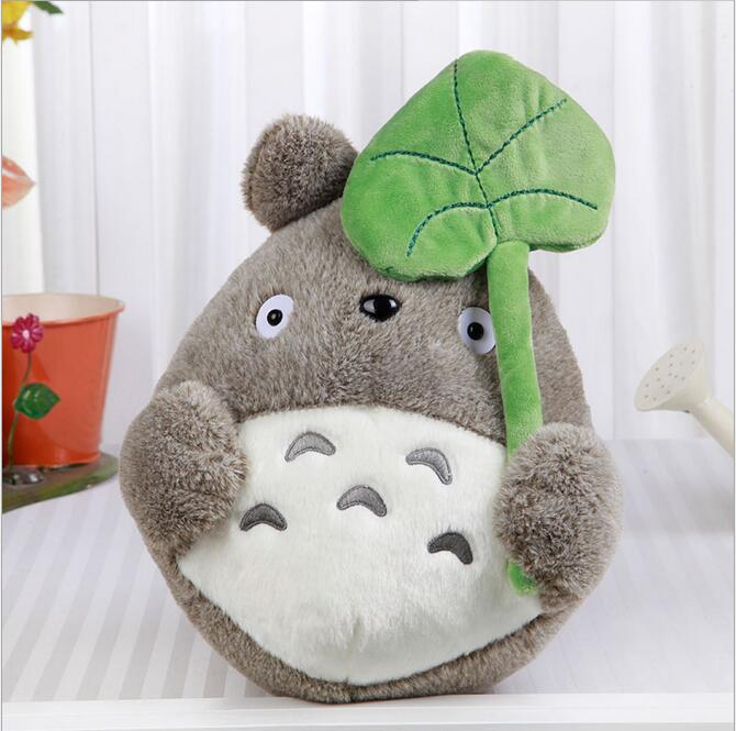Free shipping wholesale 22cm lovely plush toy, my neighbor totoro plush toy lovely doll totoro with lotus leaf SA574(China (Mainland))