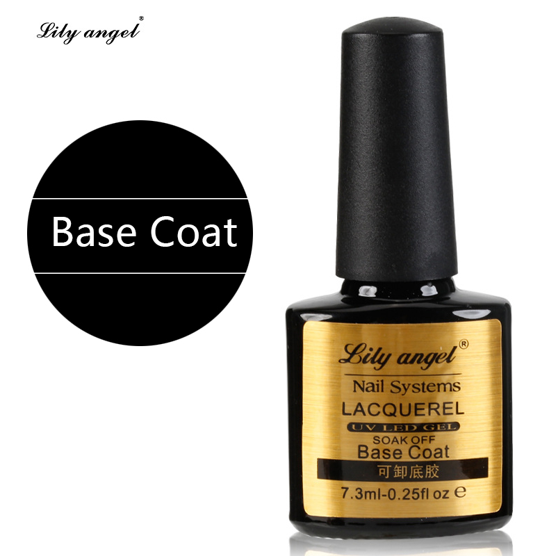 Lily angel New Arrival Lacquer Nail Base Coat 7.3ML Long lasting Soak Off UV LED GEL Base Coat Manicure Nail Gel Z