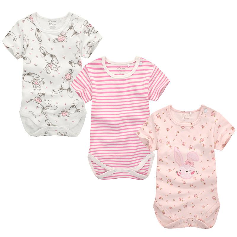 3pcs lot Baby Boy Girl Clothes Short Sleeve Leopard Print
