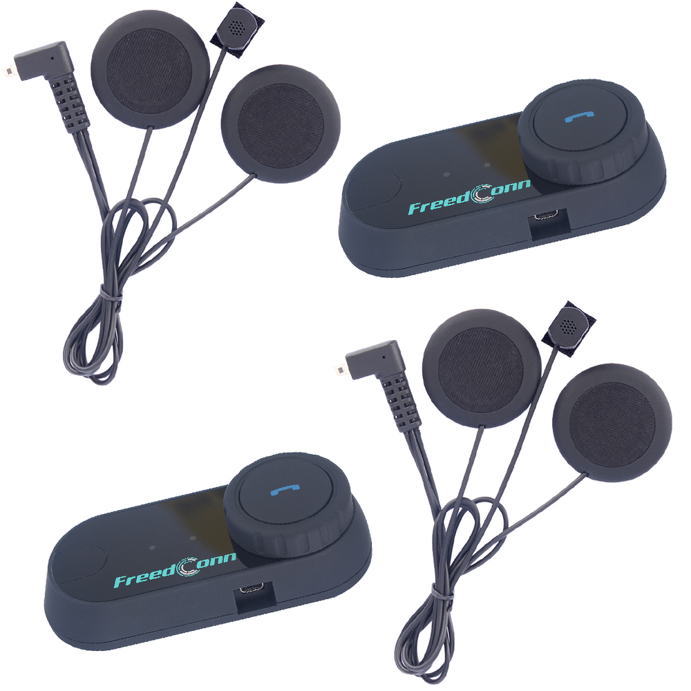 2 pcs BT Interphone Motorcycle Helmet Bluetooth Headset Intercom intercomunicador motocicleta + updated Soft Earphone+FM radio(China (Mainland))