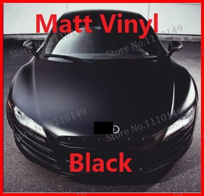 "1 PC 1.52Mx50cm Matt Black Vinyl Film car wrap 59.84"" X 19.69"" Matte vinyl car sticker many color option"