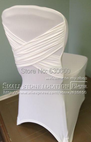 Buy WHITE Cross Back Lycra Chair Cover Swag Back High Quali