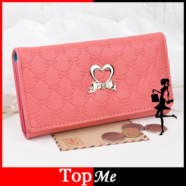 Promotion Fashion women wallets cards holder PU leather lady coin purse heart style long clutch wallets money bags Free shipping<br><br>Aliexpress