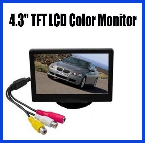 "NEW 4.3"" TFT LCD Car reverse Rear View Color Monitor free shipping"
