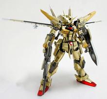 In Stock Dragon Momoko Gundam Model MG 1/100 Akatsuki Double Weapons 2 Backpack Golden Plated Action Figure Assemble Toys Gift