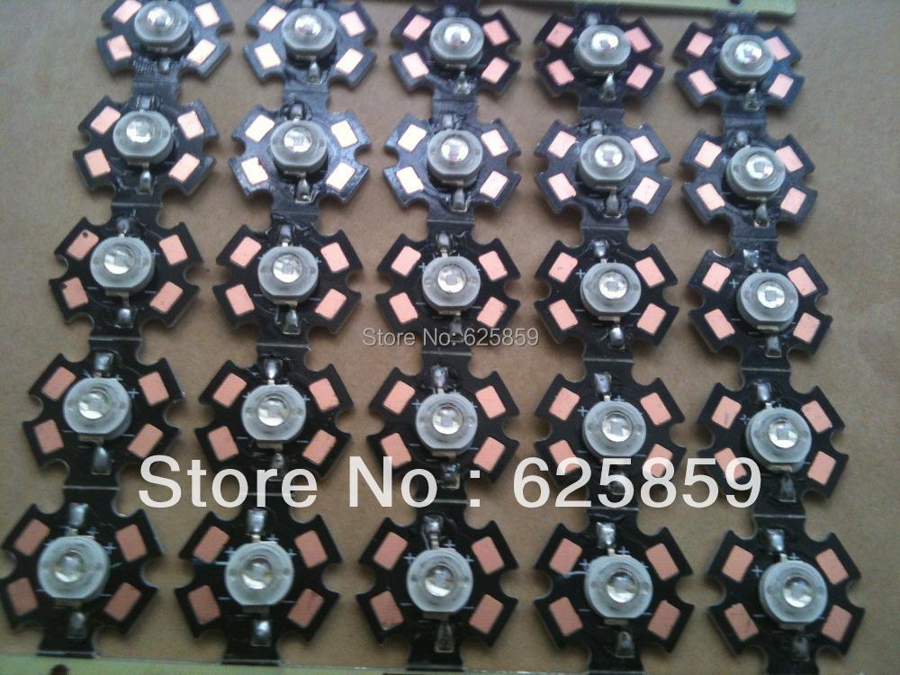 20pcs 3W UV Ultra Violet Hihg power LED 3Watt LED 395-405nm with 20mm Star Base(China (Mainland))