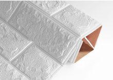 3D наклейки на стену имитация кирпича украшения для спальни водонепроницаемые самоклеющиеся обои для гостиной у телевизора на кухне декора...(China)