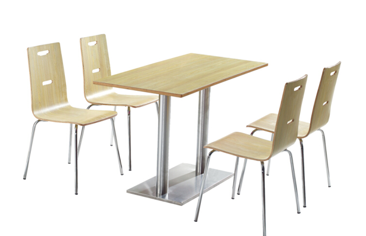 Restaurant table Dining table set with 4 chairs in canteen(China (Mainland))