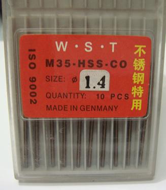 Cobalt drill bit 1.4MM Straight Shank Twist Drill bit 10pcs=1lot M35
