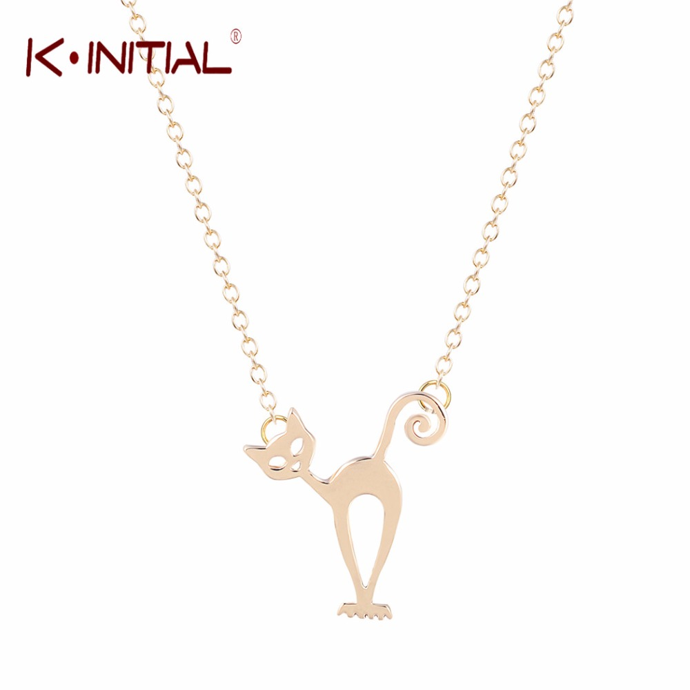 Kinitial 1Pcs Cat Necklace Animal Stray Necklaces Kitten Jewellery Designs Fancy Cats Fashion Pendant Necklace Jewelry Collar(China (Mainland))