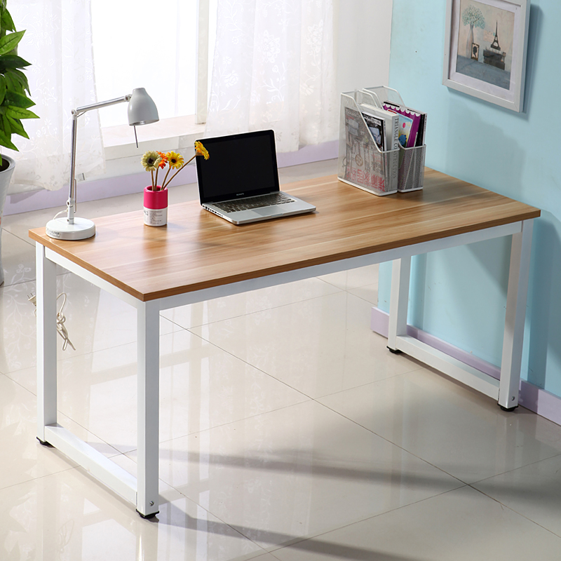 Simple computer desk stylish minimalist home double for Minimalist household items