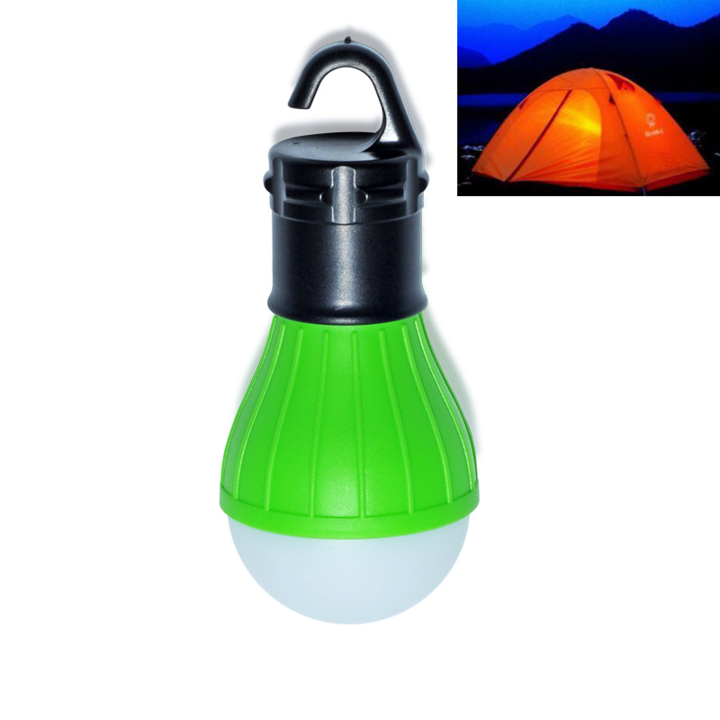 Hot Portable outdoor Hanging 3-LED Camping Lantern,Soft Light LED Camp Lights Bulb Lamp For Camping Tent Fishing(China (Mainland))