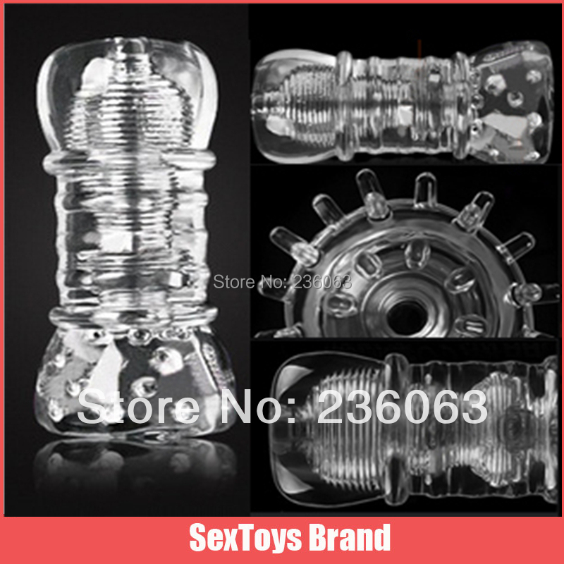 Greedy Girl Fantasy Transparent Pussy Series 3 Narrow Penis Massager, Male Masturbators Trainer Sex Toys, Adult Sex Products(China (Mainland))