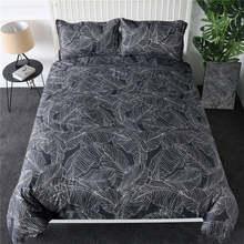 BeddingOutlet Pineapple Bedding Set Striped Grey Duvet Cover Reversible Bedspreads Queen Tropical Bed Linen 2/3/4pcs Wholesale(China)