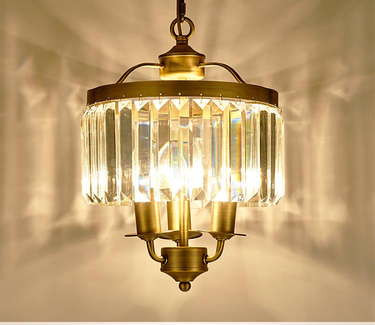 American style retro crystal chandelier hallway restaurant bar ...