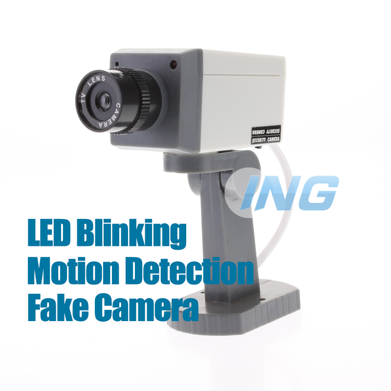 Motion Detection Fake Camera Oudoor/Indoor Realistic Decoy Dummy Security Camera Surveillance Fake CCTV Cam with Blinking LED(China (Mainland))