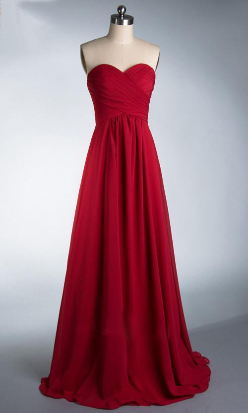 Мода новый 2015 ZJ0039 вина красного fuschia цвета шифона без бретелек платья длиной до пола молния платье невесты долго